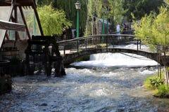 Blue water river in Travnik, Bosnia and Herzegovina Stock Photo