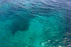 Blue water sea for background Royalty Free Stock Photography