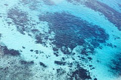 Blue water sea background. View from above. Stock Photos