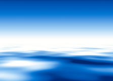 Blue water and sky.... Horizontal orientation Stock Photos