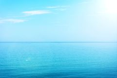 Blue water and sky Stock Photography