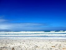 Blue water and sky, photographed at Bloubergstrand, South Africa