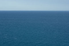 Blue water and sky. View of peniscola from the Castle of the mediterranean sea in spain Stock Photos