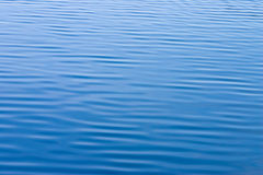 Blue water with small waves texture stock images