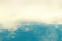Blue water and smoke Stock Photo