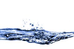 Blue water splash. With drops Stock Images