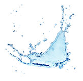 Blue water splash Stock Photography