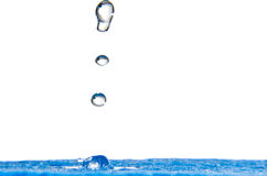 Blue Water Splash Royalty Free Stock Image