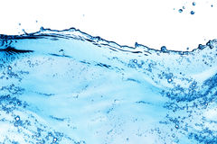 Blue water splash Royalty Free Stock Photography