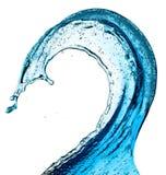 Blue water splash Royalty Free Stock Photos