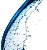 Blue water splash Royalty Free Stock Photo