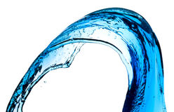 Blue water splash Stock Photos