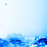 Blue water splash Royalty Free Stock Image