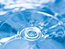 Blue water splash Royalty Free Stock Images