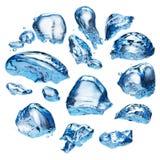 Blue water splash Stock Image