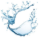 Blue water splash Royalty Free Stock Images