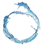 Blue water splash isolated Royalty Free Stock Photos