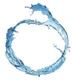 Blue water splash isolated Royalty Free Stock Photos