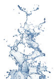 Blue water splash isolated Royalty Free Stock Photo
