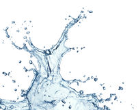 Blue water splash isolated Royalty Free Stock Image