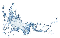 Blue water splash isolated Stock Photos
