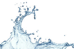 Blue water splash isolated Stock Image