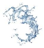 Blue water splash isolated. On white background Stock Photo
