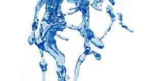 Blue Water Splash stock images