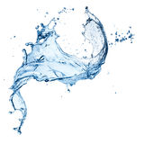 Blue water splash isolated. On white background Royalty Free Stock Photos