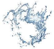 Blue water splash isolated Stock Photography