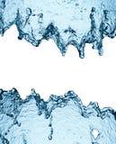 Blue water splash isolated Stock Image
