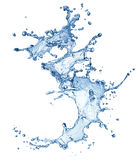 Blue water splash isolated Royalty Free Stock Photography