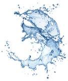 Blue water splash isolated Stock Photo