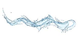 Blue water splash. Royalty Free Stock Photo