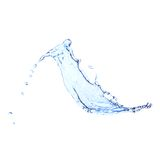 Blue water splash isolated on white Royalty Free Stock Photography