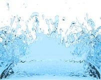 Blue water splash juice drink 3D illustration Royalty Free Stock Images