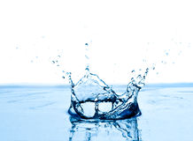 Blue water splashing. Royalty Free Stock Photo
