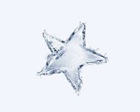Blue Water Star Royalty Free Stock Photo
