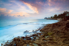 Blue water sunrise Royalty Free Stock Images