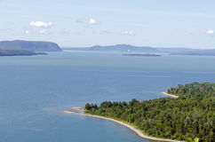 Blue water of Superior Lake Stock Images