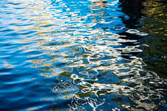 Blue water surface Stock Image