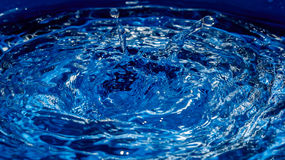 Blue water surface Royalty Free Stock Images