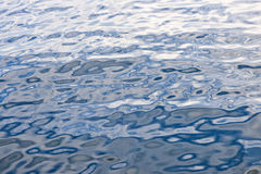 Blue water surface Stock Photo