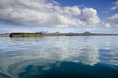 Blue water surface Royalty Free Stock Image