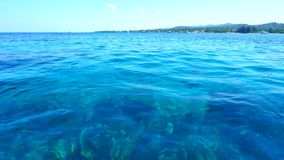 Blue Water Surface Close-up, Carribean Sea Stock Images