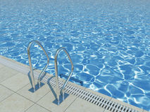 Blue water surface in outdoor pool Stock Photo