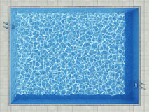Blue water surface in outdoor pool. Blue water surface with caustic pattern in outdoor pool Stock Images