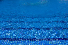 Blue water surface in outdoor pool Royalty Free Stock Photo