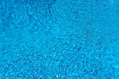 Blue water surface and ripple wave in swimming pool. May be used as background Stock Photo