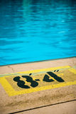 Blue water in swimming pool Royalty Free Stock Images